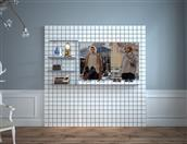 Image wall.clothing store display fixtures HB05X03